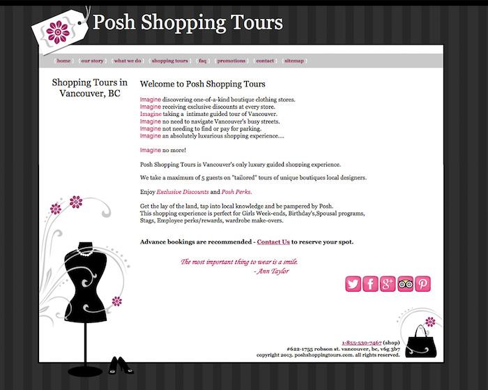 posh shopping before