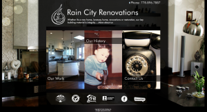 rain city home page - before
