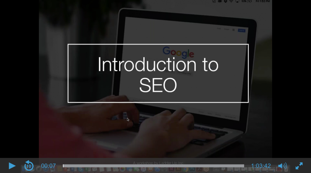 Intro to SEO webinar